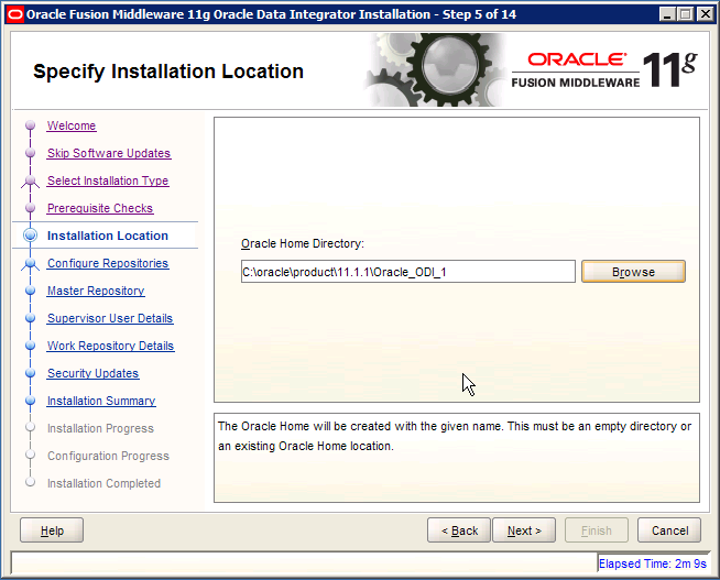 ODI Create or Upgrade Oracle Home
