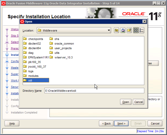 Locate ODI Oracle Home Created by FDMEE