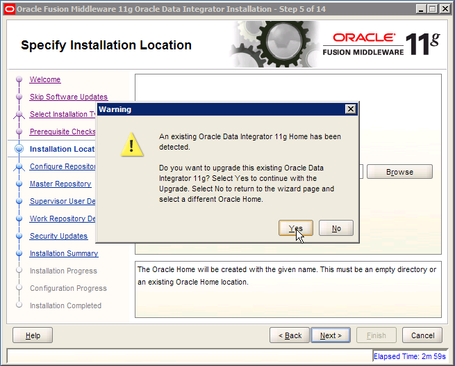 Upgrade existing Oracle Data Integrator 11g Home