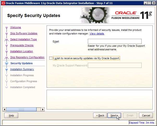 ODI Specify Security Updates