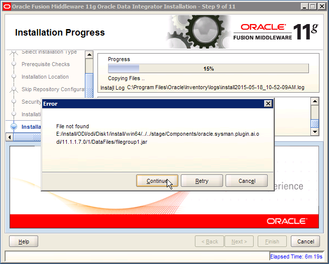 ODI Error: oracle.sysman.plugin.ai.odi