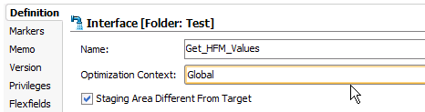 Optimization Context Set to Global