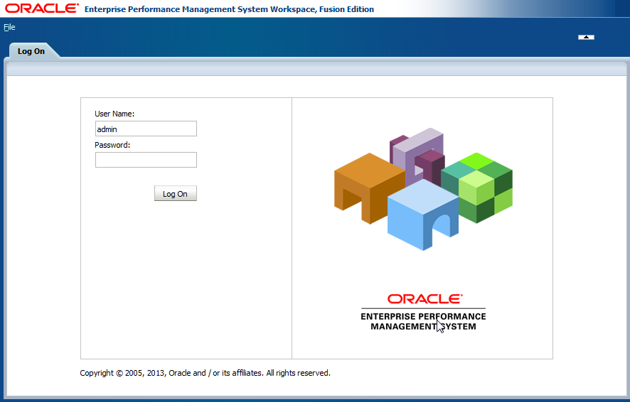 Oracle EPM Workspace