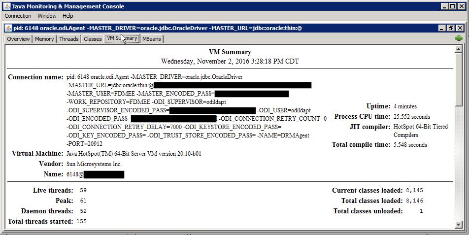 JConsole VMSummary